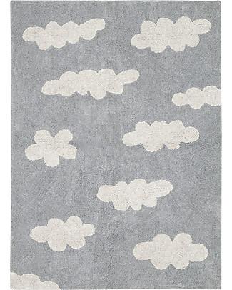 Lorena Canals Machine Washable Rug Clouds, Grey - 100% Cotton (120x160 cm) Carpets