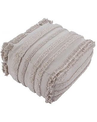Lorena Canals Pouf Early Hours, Air Natural – 100% Cotone (54 x 54 x 27 cm) null