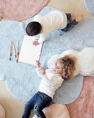 Lorena Canals Puffy Dream, Tappeto Nuvola Lavabile, Azzurro - 110 x 170 cm Tappeti