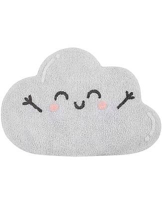 Lorena Canals Tappeto Lavabile a Forma di Nuvoletta Happy  Cloud - 100% cotton (85x120 cm) Tappeti