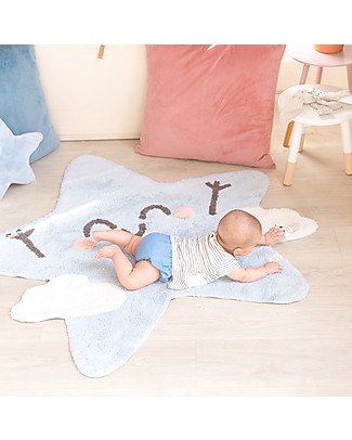 Lorena Canals Tappeto Lavabile a forma di Stellina Happy Star - 100% cotton (120x120 cm) Tappeti