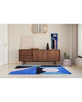 Lorena Canals Tappeto Lavabile a Motivo Geometrico, Frame - 100% cotone (140 x 200 cm) Tappeti