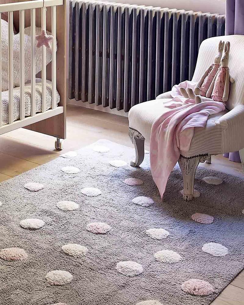 Lorena canals tappeto lavabile a pois 3 colori grigio for Tappeto lavabile soggiorno