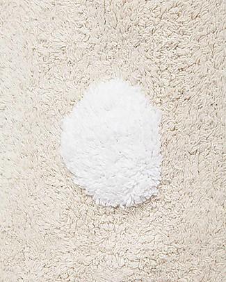 Lorena Canals Tappeto Lavabile a Pois, Vaniglia - 100% Cotone (120cm x 160cm)  Tappeti