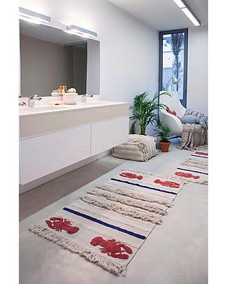 Lorena Canals Tappeto Lavabile Aragosta Mini, Small – 100% Cotone (80x140 cm) Tappeti