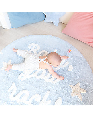 Lorena Canals Tappeto Lavabile Baby, You Rock! - 100% cotton (120 cm) Tappeti