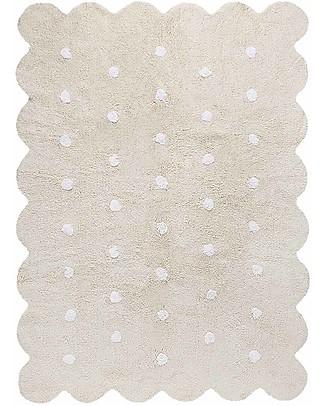 Lorena Canals Tappeto Lavabile Biscotto Beige – 100% Cotone (120cm x 160cm) Tappeti