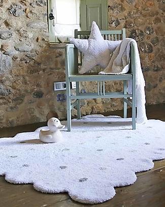 Lorena Canals Tappeto Lavabile Biscotto Bianco – 100% Cotone (120cm x 160cm) Tappeti
