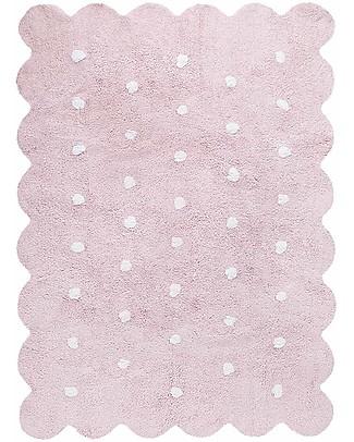 Lorena Canals Tappeto Lavabile Biscotto Rosa – 100% Cotone  (120cm x 160cm) Tappeti