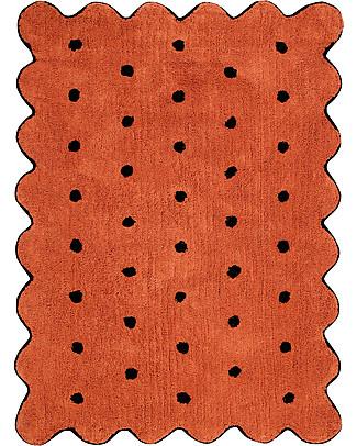 Lorena Canals Tappeto Lavabile Biscotto Terracotta – 100% Cotone  (120cm x 160cm) Tappeti