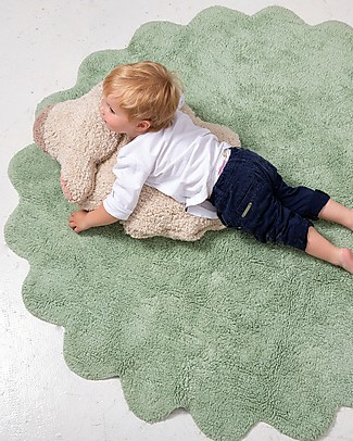 Lorena Canals Tappeto Lavabile con Cuscino Puffy Sheep Amovibile, Puffy Rugs - 100% Cotone (140 cm) Tappeti