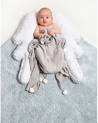 Lorena Canals Tappeto Lavabile con Cuscino Puffy Wings, Puffy Rugs - 100% Cotone (120x160 cm) Tappeti