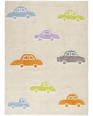 Lorena Canals Tappeto Lavabile con Macchinine Multicolori - Vaniglia, 100% Cotone (120 x 160 cm)  Tappeti