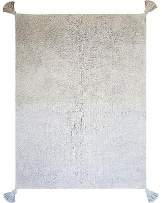 Lorena Canals Tappeto Lavabile Degrade, Grigio/Celeste - 100% Cotone (120cm x 160cm)  Tappeti