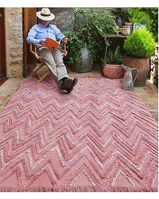 Lorena Canals Tappeto Lavabile Early Hours, Earth Canyon Rose - 100% Cotone (170 x 240 cm) Tappeti