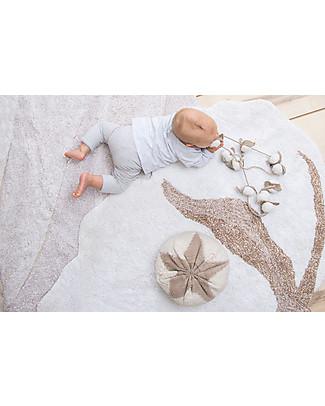 Lorena Canals Tappeto Lavabile Fiore di Cotone – 100% Cotone (120x130cm) Tappeti