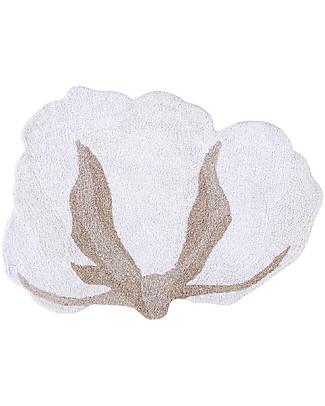 Lorena Canals Tappeto Lavabile Fiore di Cotone - 100% Cotone (120x130cm) Tappeti