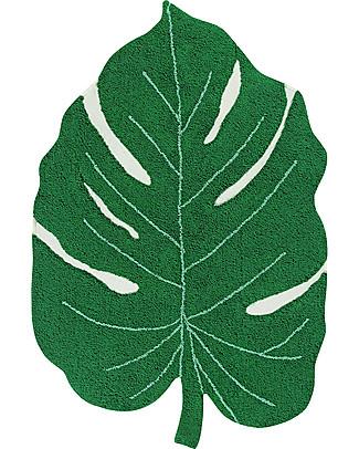 Lorena Canals Tappeto Lavabile Foglia di Monstera, Verde - 120 x 160 cm Tappeti