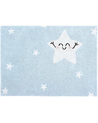 Lorena Canals Tappeto Lavabile Happy Star - 100% cotone (120x160 cm)  Tappeti