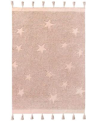 Lorena Canals Tappeto Lavabile Hippy Stars, Vintage Nude - 100% Cotone (120 x 175 cm) Tappeti