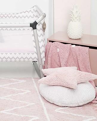 Lorena Canals Tappeto Lavabile Hippy - Zig Zag Rosa Pastello - 100% Cotone (120cm x 160cm) - Nuovo modello! Tappeti