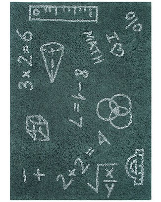 Lorena Canals Tappeto Lavabile I Love Math, Back to school - 100% Cotone (140 x 200 cm) Tappeti