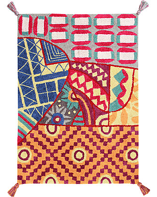 Lorena Canals Tappeto Lavabile Indian Bag, Multicolore - 100% Cotone (120x160 cm) Tappeti