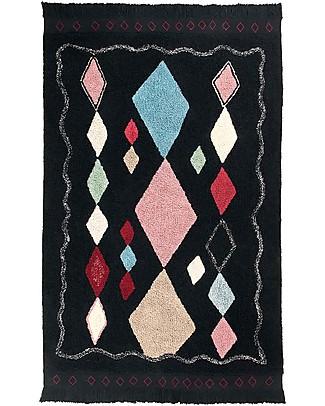Lorena Canals Tappeto Lavabile Meknes, Marocco Black - 100% Cotone (140 x 200 cm) Tappeti