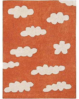 Lorena Canals Tappeto Lavabile Nuvole, Terracotta - 100% Cotone (120x160 cm) Tappeti