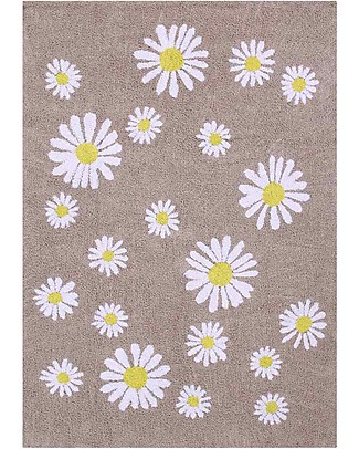 Lorena Canals Tappeto Lavabile OhJoy, Happy Daisies - 100% Cotone (140 x 200 cm) Limited edition! null
