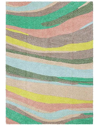 Lorena Canals Tappeto Lavabile OhJoy, Happy Hills - 100% Cotone (140 x 200 cm) Limited edition! Tappeti