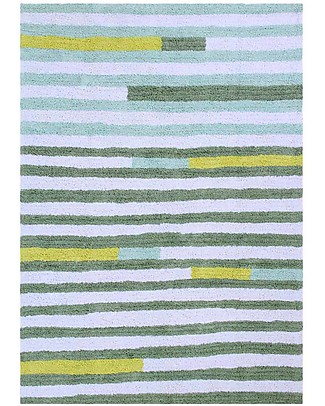 Lorena Canals Tappeto Lavabile OhJoy, Happy Lanes - 100% Cotone (140 x 200 cm) Limited edition! null