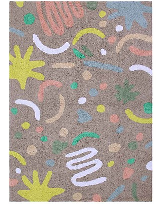 Lorena Canals Tappeto Lavabile OhJoy, Happy Party - 100% Cotone (140 x 200 cm) Limited edition! Tappeti