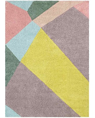 Lorena Canals Tappeto Lavabile OhJoy, Happy Prism - 100% Cotone (140 x 200 cm) Limited edition! null