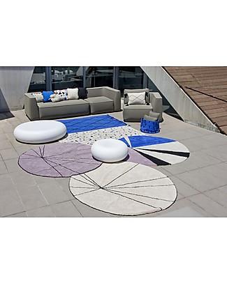 Lorena Canals Tappeto lavabile rotondo Trace, Beige - 100% cotone (160 cm) Tappeti