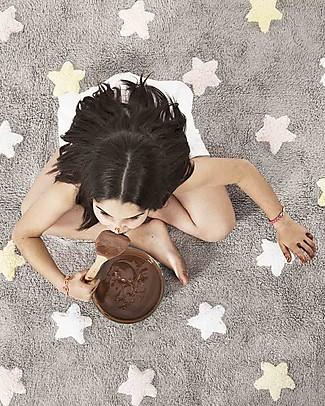 Lorena Canals Tappeto Lavabile Stelle Tricolore – Grigio/Rosa, 100% Cotone (120cm x 160cm)  Tappeti