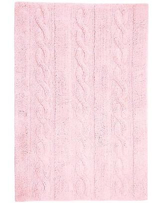 Lorena Canals Tappeto Lavabile Trecce Rosa Tenue – 100% Cotone (120cm x 160cm)  Tappeti