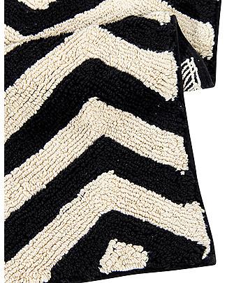 Lorena Canals Tappeto Lungo Lavabile Black and White, Zig-Zag - 100% Cotone (80cm x 230cm)  Tappeti