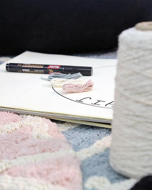 Lorena Canals Tappeto Tondo Lavabile ABC, Rosa/Panna, 100% cotone (diametro 150 cm) Tappeti