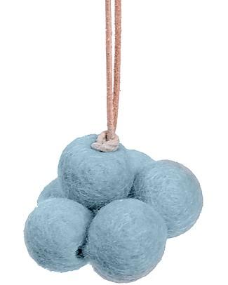 Loullou Baby Cloud, Gioco da Appendere, Nuvola Blu - Lana di Agnello Giostrine