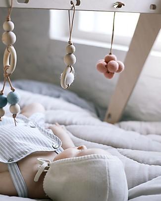 Loullou Baby Dot, Gioco da Appendere, con Pallina Blu - Legno Giostrine