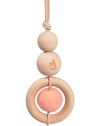 Loullou Baby Dot, Gioco da Appendere, con Pallina Rosa - Legno Giostrine
