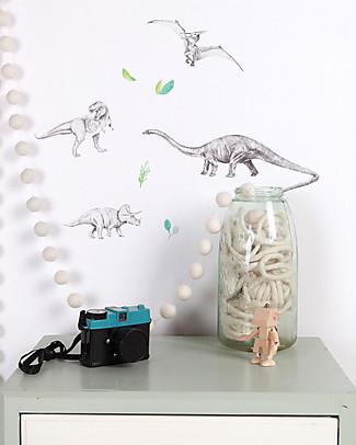 Love Mae Mini Sticker in Stoffa, Dinosauri - Riposizionabili! Ottima idea regalo anche per gli adulti! Adesivi Da Parete