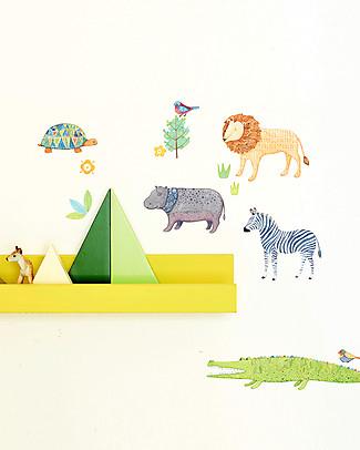Love Mae Mini Sticker in Stoffa, Safari - Riposizionabili! Ottima idea regalo anche per gli adulti! Adesivi Da Parete