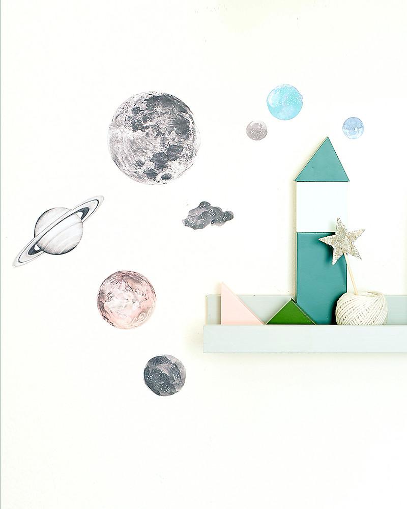 Love mae mini sticker in stoffa, sistema solare   riposizionabili ...