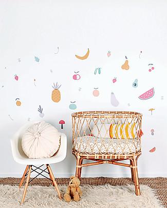 Love Mae Sticker per Muro in Stoffa, Frutta e Verdura - Riposizionabili e Biodegradabili! Adesivi Da Parete