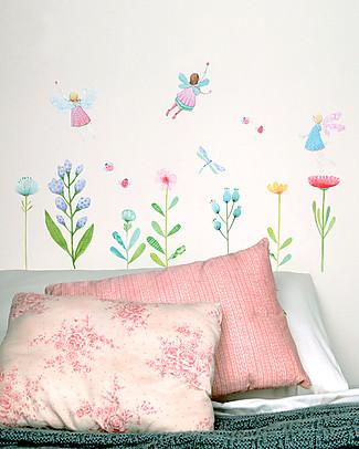 Love Mae Sticker per Muro in Stoffa, Giardino delle Fate - Riposizionabili e Biodegradabili! Adesivi Da Parete