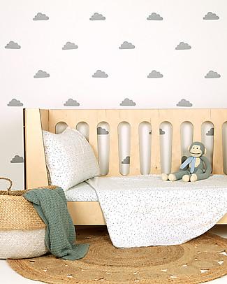 Love Mae Sticker per Muro in Stoffa, Nuvole Grigie - Riposizionabili e Biodegradabili! Adesivi Da Parete