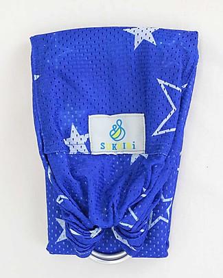 Lucky Baby Fascia Portabebé Estiva - SUKKIRi - Blu a Stelle Bianche Fasce Portabebé