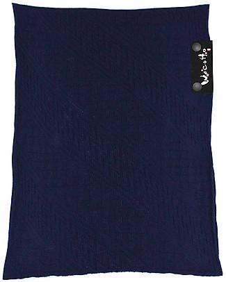 Lucky Baby Wacotto, Fascia Porta Bebè 2 in 1, Blu Navy - 6-36 mesi - È anche sciarpa infinity!  Fasce Portabebé